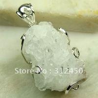 Joyería de moda de plata hechos a mano de piedras preciosas naturales druzy drusy envío joyas gratis LP0087 (China (continental))