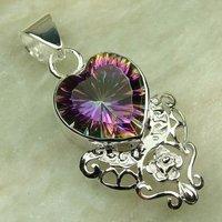 Moda joyas de plata topacio místico de piedras preciosas joyas de envío gratis a LP0085 (China (continental))