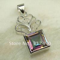 Wholeasle 5PCS la moda de joyería de plata topacio místico piedra colgante de joyería LP0082 envío gratis (China (continental))