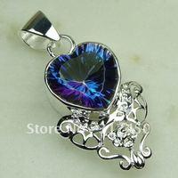 Wholeasle 5PCS moda de joyería de plata topacio místico de piedras preciosas joyas colgantes libre LP0464 de envío (China (continental))