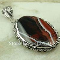 Suppry joyería de plata hecha a mano pendientes de ágata de piedras preciosas joyas de envío gratis LP0745 (China (continental))