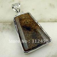 Nueva suppry joyería de plata colgante de piedras preciosas joyas de ágata envío gratis LP0520 (China (continental))