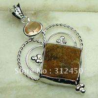 Joyería hecha a mano de plata ágata drusy druzy colgante de piedras preciosas joyas de envío gratis a LP0608 (China (continental))