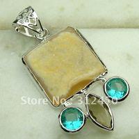 Joyería hecha a mano de plata ágata drusy druzy colgante de piedras preciosas joyas de envío gratis a LP0656 (China (continental))
