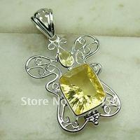 Fahion plata amethys joyas de piedras preciosas joyas colgantes libre LP0604 de envío (China (continental))