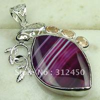 Nueva suppry plata 5pcs joyas de ágata piedra colgante de joyería de envío gratis a LP0528 (China (continental))