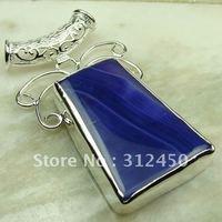Nueva suppry joyería de plata púrpura ágata piedra colgante de joyería libre LP0029 de envío (China (continental))