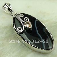 Nueva plata suppry joyas de ágata púrpura colgante de piedras preciosas joyas de envío gratis a LP0034 (China (continental))