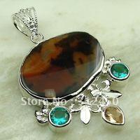 Nueva suppry joyería de plata colgante de piedras preciosas joyas de ágata envío gratis LP0031 (China (continental))
