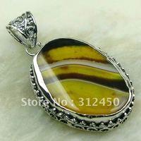 Wholeasle suppry joyería de plata colgante de piedras preciosas joyas de ágata envío gratis LP0178 (China (continental))