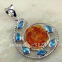 Wholeasle plata suppry joyas de ámbar piedra colgante de joyería de envío gratis a LP0167 (China (continental))