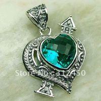 Wholeasle joyería de plata suppry verde amatista colgante de piedras preciosas joyas prasiolite libre LP0146 de envío (China (continental))