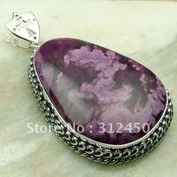 Wholeasle 5PCS joyería de plata suppry morado turquesa colgante de piedras preciosas joyas gratis LP0142 de envío (China (continental))