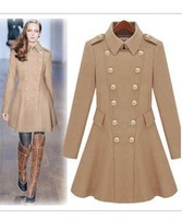 W129] 2013 Fashion winter coats, winter jackets for women, wool coat, cashmere dress, women clothing