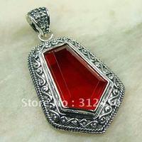 Wholeasle joyería de plata hechos a mano de piedras preciosas de color rojo Kunzite pendiente de envío joyas gratis LP0140 (China (continental))