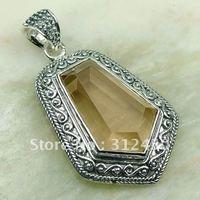 Wholeasle joyería de plata hechos a mano, colgantes de piedras preciosas morganita envío joyas gratis LP0176 (China (continental))