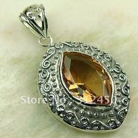 Wholeasle joyería de plata colgante de piedras preciosas 5PCS morganita envío gratis LP0165 (China (continental))