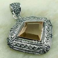 Wholeasle plata joyería de piedras preciosas 5PCS morganita envío gratis LP0166 colgante (China (continental))