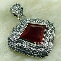Wholeasle joyería de plata 5PCS rojo Kunzite piedra colgante de envío gratis a LP0141 (China (continental))