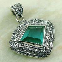 Wholeasle joyería de plata 5PCS verde amatista piedras preciosas prasiolite colgante envío gratis LP0173 (China (continental))