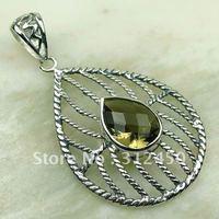Wholeasle joyería de plata de piedras preciosas de cuarzo ahumado 5PCS colgante de envío gratis a LP0177 (China (continental))