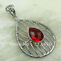 Wholeasle joyería de plata 5PCS rojo Kunzite piedra colgante de envío gratis a LP0168 (China (continental))