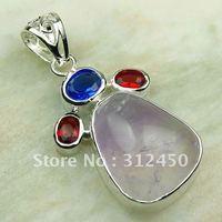 Moda de joyería de plata hechos a mano 5PCS fluorita púrpura piedra de jaspe de envío joyas gratis LP0183 (China (continental))