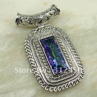 Suppry plata joyería de piedras preciosas Topacio místico colgante de joyería de envío gratis a LP0026 (China (continental))