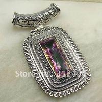 Suppry joyería de plata topacio místico colgante de piedras preciosas joyas de envío gratis a LP0025 (China (continental))
