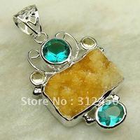 Suppry joyería de plata ágata drusy piedras preciosas joyas colgantes druzy libre LP0027 de envío (China (continental))