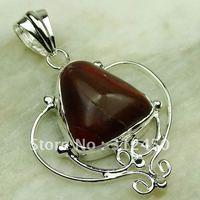 Suppry joyería de plata jaspe rojo de piedras preciosas joyas colgantes libre LP0261 de envío (China (continental))