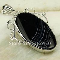 Suppry joyería de plata púrpura ágata piedra colgante de joyería libre LP0250 de envío (China (continental))