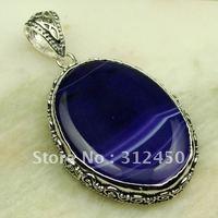 Suppry plata joyas de ágata púrpura piedra colgante de joyería de envío gratis a LP0281 (China (continental))