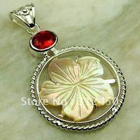 Suppry joyería de plata labrada de piedras preciosas 5PCS shell pendiente de envío joyas gratis LP0288 (China (continental))