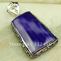 Suppry plata joyas de ágata púrpura piedra colgante de joyería de envío gratis a LP0286 (China (continental))