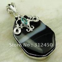Suppry plata joyería de piedras preciosas ágata pendiente el envío libre LP0252 joyas (China (continental))