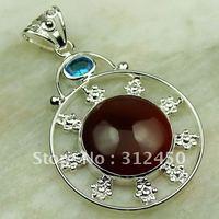 Suppry 5PCS plata joyería de piedras preciosas ágata pendiente el envío libre LP0259 joyas (China (continental))