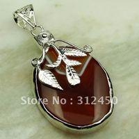 Wholeasle 5PCS plata joyería de piedras preciosas ágata pendiente el envío libre LP0256 joyas (China (continental))
