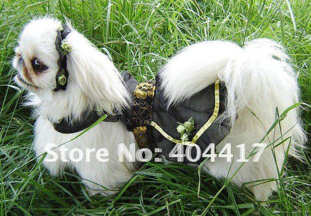 Pet wedding dress luxury dog wedding dress dog clothes