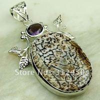 Joyería de moda de plata hecha a mano pendientes de ágata de piedras preciosas joyas de envío gratis LP0257 (China (continental))