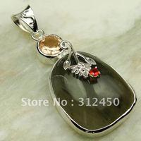 Joyería de moda de plata hecha a mano pendientes de ágata de piedras preciosas joyas de envío gratis LP0251 (China (continental))