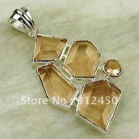 Joyería de moda de plata hechos a mano, colgantes de piedras preciosas morganita envío joyas gratis LP0297 (China (continental))