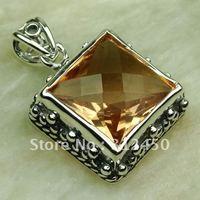 Plata joyería de moda colgante de piedras preciosas morganita envío gratis LP0290 joyas (China (continental))