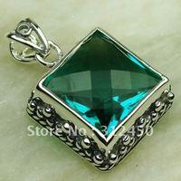 Plata joyería de moda verde amatista piedras preciosas joyas colgantes prasiolite envío gratis LP0289 (China (continental))
