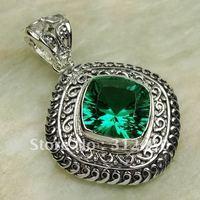 Moda joyas de plata verde amatista piedras preciosas joyas colgantes prasiolite envío gratis LP0295 (China (continental))