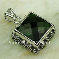 Plata joyería de moda peridoto piedra natrual colgante envío gratis LP0282 joyas (China (continental))