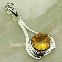 Suppry moda envío gratis de joyería de plata colgante de piedras preciosas topacio místico LP0435 (China (continental))