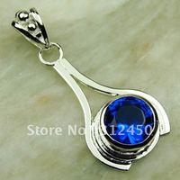 Suppry moda envío gratis de joyería de plata suizo topacio azul colgante de piedras preciosas LP0442 (China (continental))