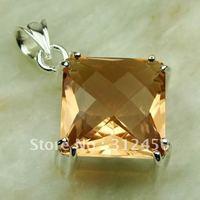 Suppry moda envío gratis de joyería de plata colgante de piedras preciosas morganita LP0443 (China (continental))
