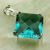 Suppry moda envío gratis de joyería de plata colgante de piedras preciosas la amatista verde prasiolite LP0437 (China (continental))